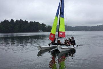 Nojiri Lake Resort has paddle boards, row boats, kayaks, and a catamaran for rent.