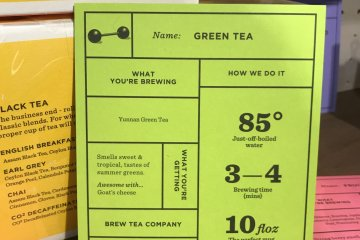 Their brewing guides on display are very helpful!