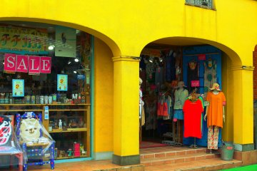 This yellow store is host to a wide variety of weird and wonderfull... everything