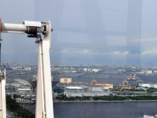 A Baía de Tóquio a partir da Roda Gigante