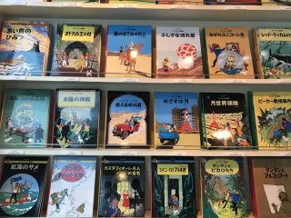 There's a whole range of Tintin books in Japanese - cool for souvenirs!