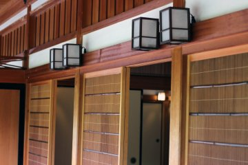 The gorgeous wooden paneling is a sight to behold.