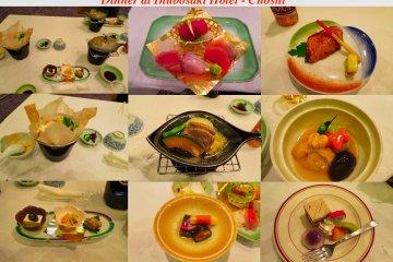 Dinner at Inubosaki Hotel