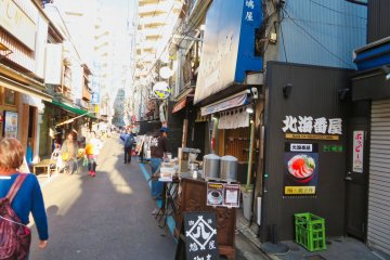 Tsukiji Fish Market side street