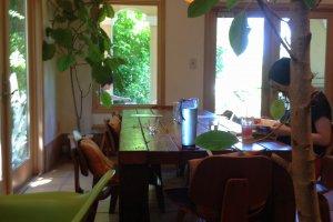Clean airy interior