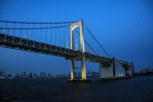 Rainbow Bridge after sunset