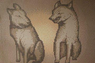 <p>Akita dog wall art</p>