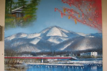 Painting of the mountain with the big Dai