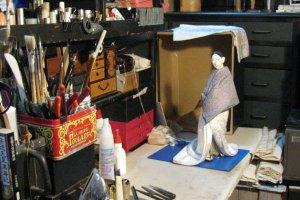 В мастерской Цудзимуры