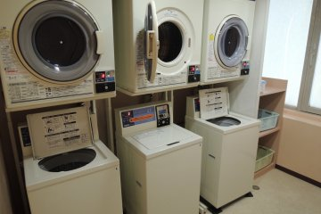 Laundry machine and dryer on every other floor