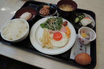 Japanese and western style breakfast