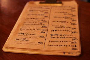 How cool is this hand written menu?!