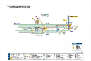 This 3D station diagram gives an overview of the layout.
