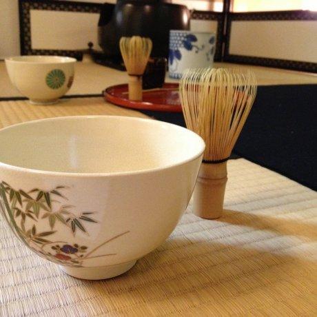 พิธีชงชา ในเกียวโต ที่ รูม จูอัน