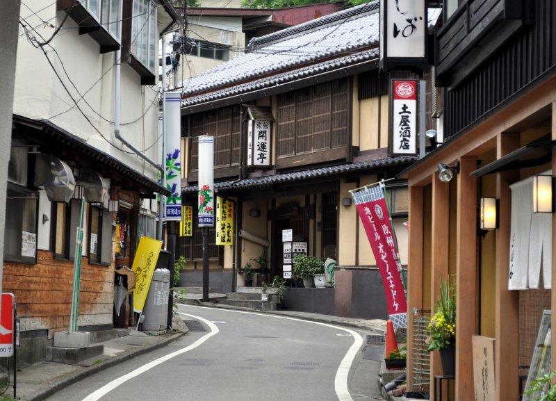 A quaint, narrow street in Kusatsu has many treasures awaiting your discovery
