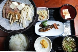 The Hoba Miso set lunch from Irori restaurant
