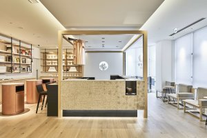 The welcoming reception area where tea is served