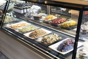 Food selection at Deli & Bar