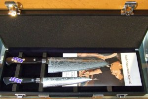 63-layer cobalt stainless steel 2-knife set with hard case