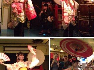 Sakura Unit (Traditional Japanese Dance & Music Team) putting on a fabulous show