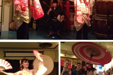 Sakura Unit (Traditional Japanese Dance & Music Team) putting on a fabulous show