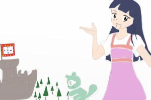 Detalhe da personagem feminina