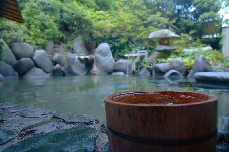 Natural hot spring water in Tamatsukuri Onsen