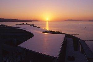 從美術館欣賞夕陽