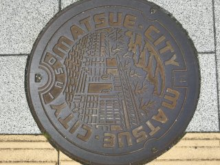 Matsue City manhole cover