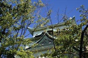 Di bagian taman manapun Anda berjalan, menara utama Kastil Nagoya pasti terlihat