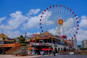 The ferris wheel provides a great view of the village and Chatan coastline