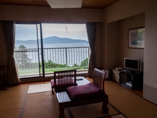 The Japanese rooms are 8 tatami mats in size and also include full ensuites, a balcony and the stunning views.
