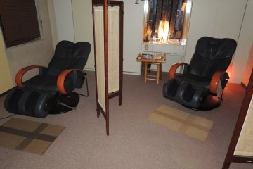 Service includes free massage at the relaxation room
