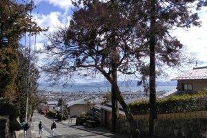 Lake Biwa from the hike to Toshogu Shrine