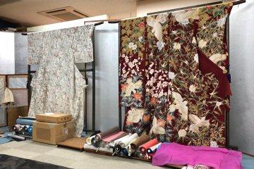 Exquisite kimonos on display