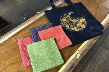 Samples of handicraft visitors can try their hand at
