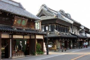Массивные старинные дома Кавагоэ