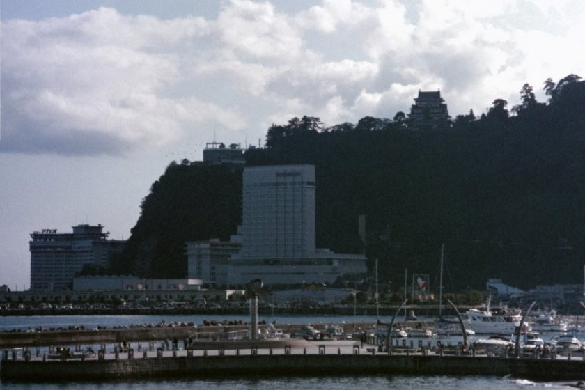 Atami Harbor with Atami Castle on the hilltop