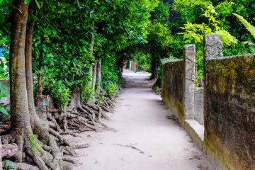 Bise Village pathways are a perfect place to stroll around and enjoy the peaceful atmosphere