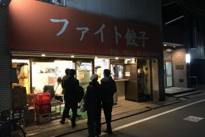 The store's exterior is unassuming, but there's almost always people still queuing to get in
