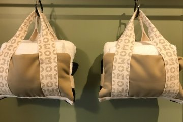 Use of space is optimized - these are the towels, perfectly hung up!