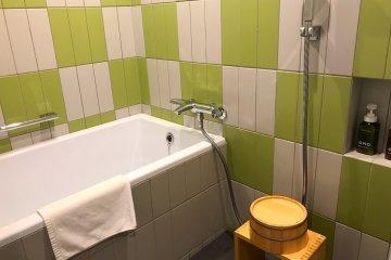 The Japanese styled bathroom