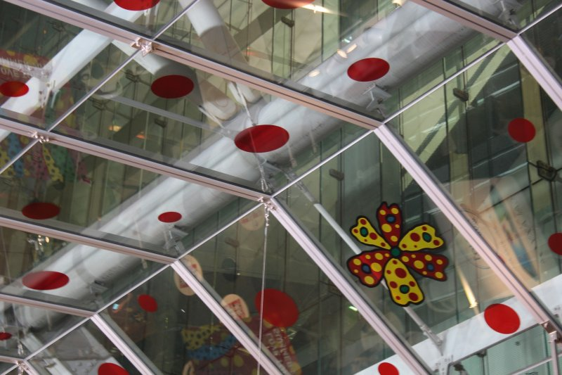 """Enjoy """"Love Tokyo Summer"""" and sip a beer under the colorful ceiling of Polka Dot Garden."""