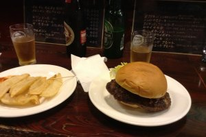 Burgers, beer, fries, and Japan. It doesn't get much better than this.