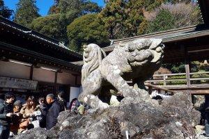A guardian of Tsukubasan Shrine