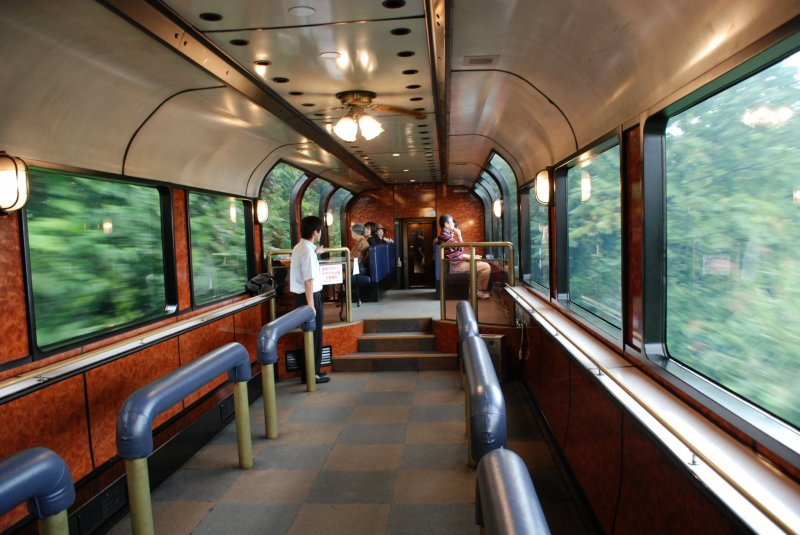 A panoramic view from the observation car