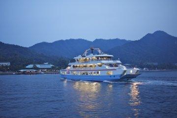 Miyajima Ferry at night