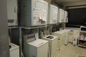Coinoperated laundry machines are available