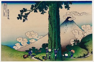 The bold lines and colouring of Hokusai