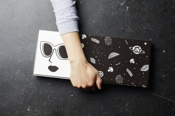 Take-out is an option too! Do it with R Pizza's adorably designed pizza box